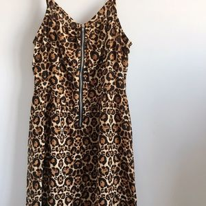 H&M Cheetah Print Babydoll Dress